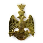 Scottish Rite 33rd Degree Masonic Jewel - Wings Down