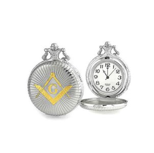 Shining Square & Compass Masonic Pocket Watch