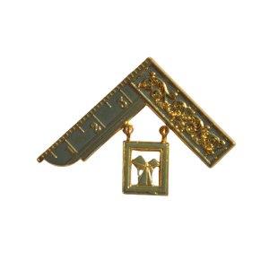 Masonic Craft Breast Jewel Gilt Square & Problem