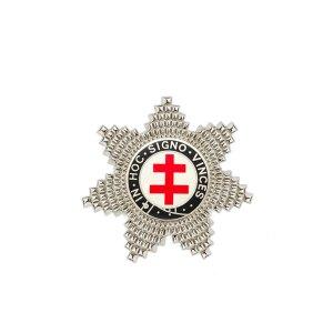 Masonic Knights Templar Preceptors Silver Plated Breast Star Jewel