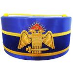 32nd Degree Scottish Rite Wings DOWN Blue Cap Bullion Hand Embroidery
