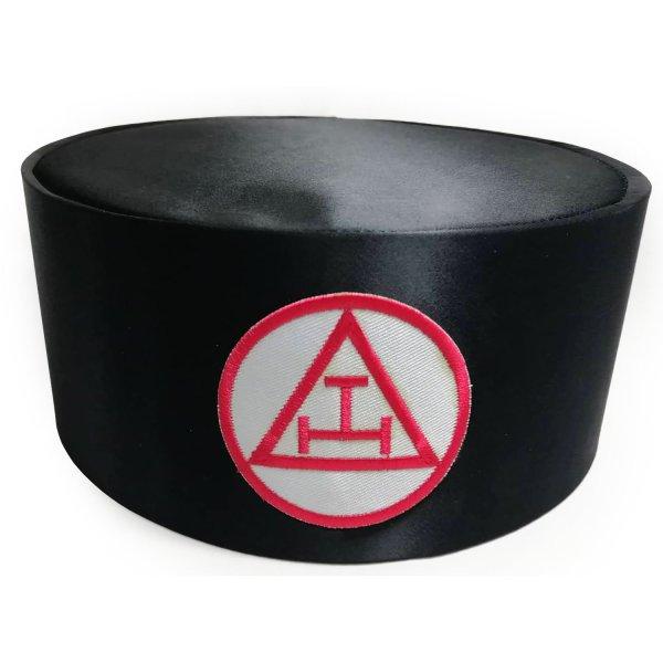 Royal Arch Masonic Triple Tau Cap Black with Machine Embroidery