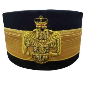 33rd Degree Scottish Rite Crown Wings DOWN Black Cap Bullion Hand Embroidery