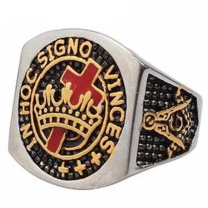 IN HOC SIGNO VINCES Knights Templar Ring