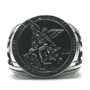 St. Michael Protect Us Ring (Gold and Silver)