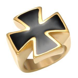 Knights Templar Gold Black Cross