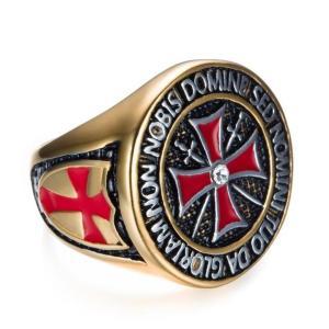 Non Nobis Domine Sed Nomini Tuo Da Gloriam Knights Templar Ring