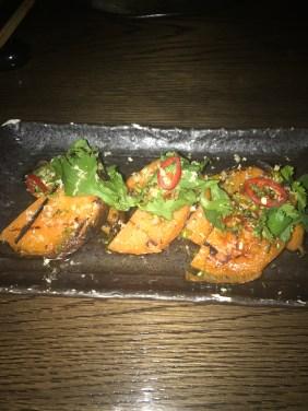 LondonsDiningCouple Sexy Fish Review grilled sweet potato