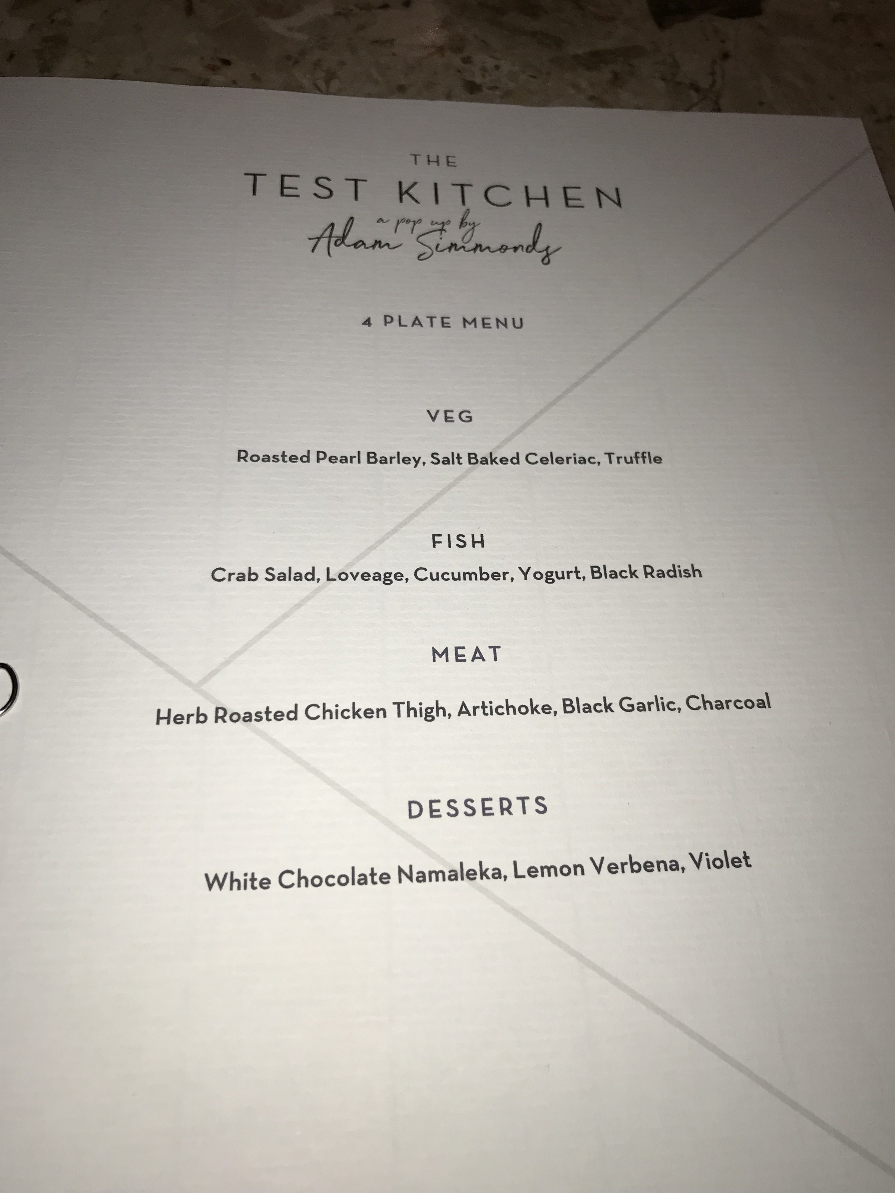 The Test Kitchen - A pop-up by Adam Simmonds