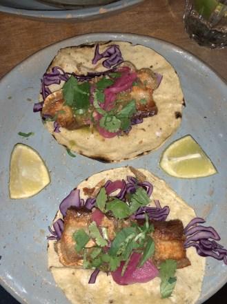 Crispy pork belly chicharron Breddos Soho Review