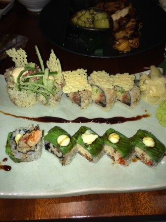 Sushi Rolls from my first Visit, can't remember the names lol