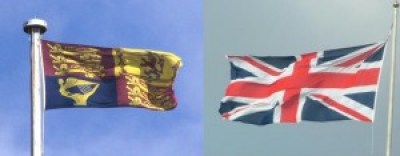 O Estandarte e a Union Flag.