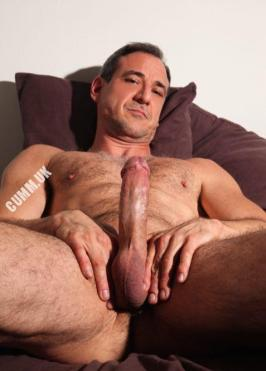 hung silver daddy self-conscious-sex-cut-erect