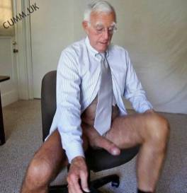 grandpa silver daddy hung huge donkey dick