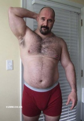 barechested dad big bulge