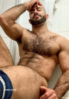 hairy chests pants down