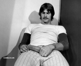 vintage sportsman wanking huge dick