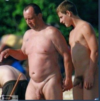 father and son nudist