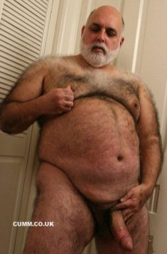 hairy chest big belly big dick