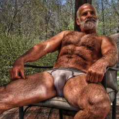manspreading hairy dad bear - Copy