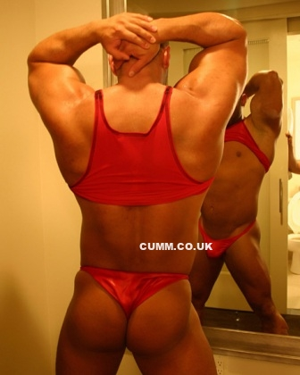 Big Muscle Masculine Roger in Panties