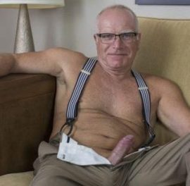 commando silver daddy freeballing wear mature no underwear