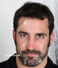 The handsome guy in spunked face is so handsome. He is all the more handsome with all that cum on his face.wish I wish I could lick it all off, and then give him a fresh load.!!! Hope he gets lots of spunk on that great face. Del