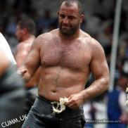 turkish wrestler bear chest oiled