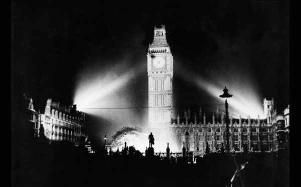 The Houses of Parliament and Big Ben are proudly lit for the first time since the war started.
