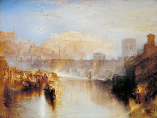JMW Turner, Ancient Rome; Agrippina Landing with the Ashes of Germanicus exhibited 1839  Oil paint on canvas  support: 914 x 1219 mm frame: 1230 x 1530 x 140 mm  painting  Tate.   Accepted by the nation as part of the Turner Bequest 1856