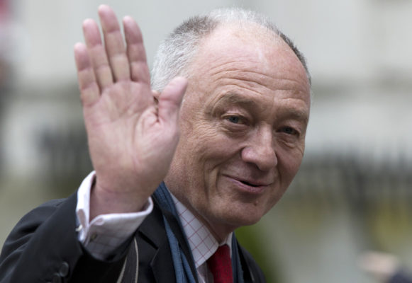 Former Mayor of London Ken Livingstone arrives at the funeral of British Labour politician Tony Benn at St Margaret's Church, Westminster Abbey in London