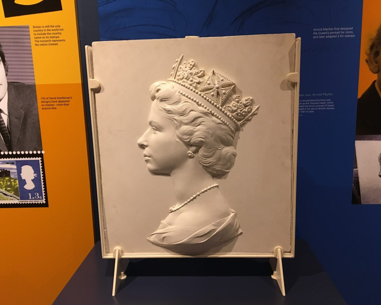 Plaster cast of Queen's head for British stamps