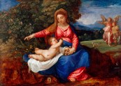 Titian, Madonna and Child in a Landscape with Tobias and the Angel, c.1535/40