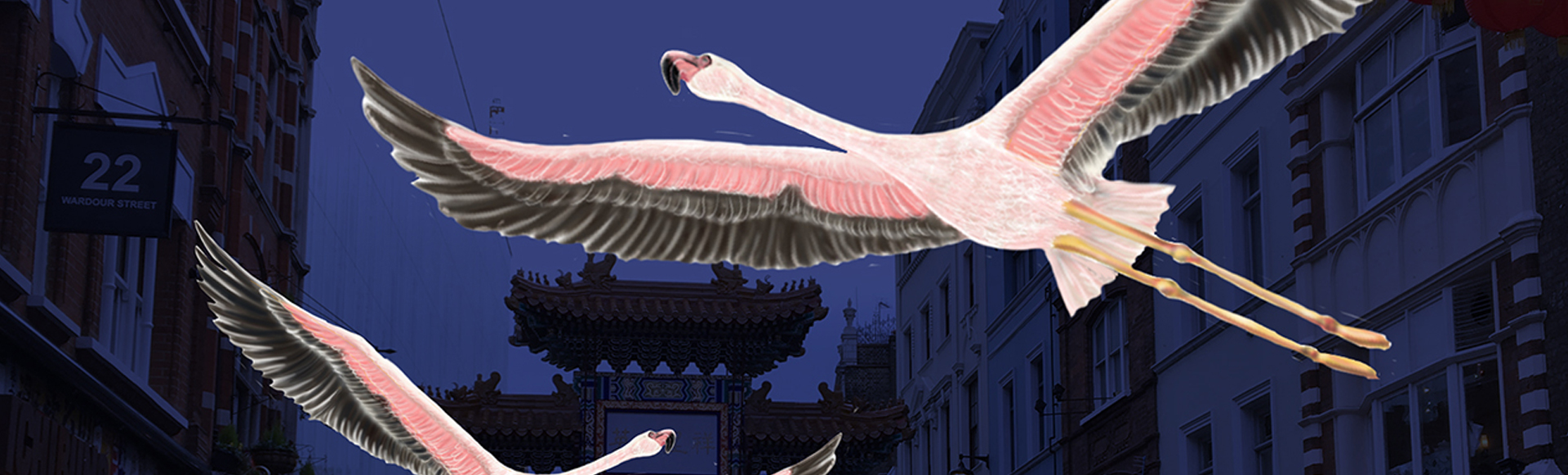 Flamingos Flyaway, Lumiere London 2018