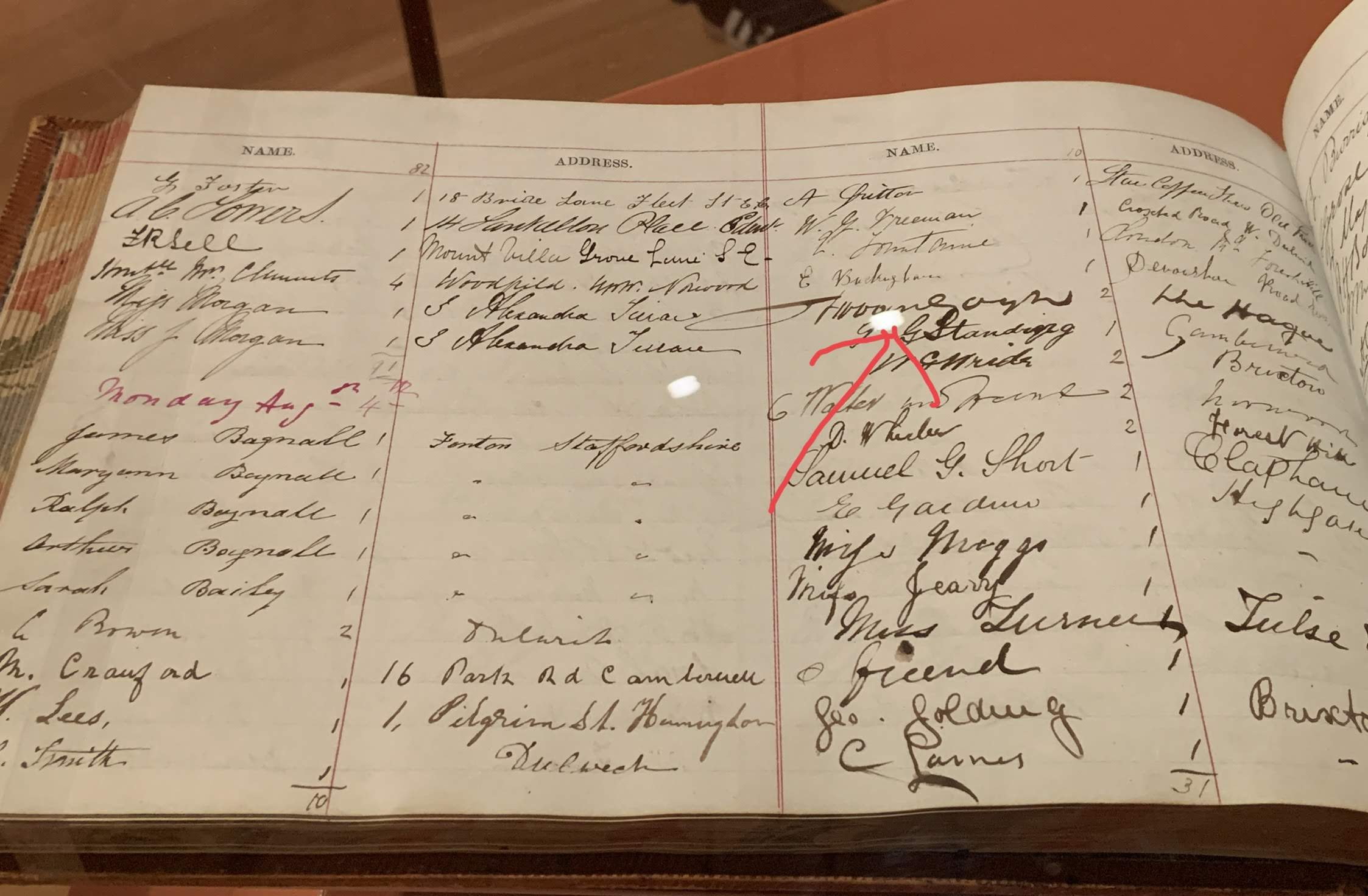 Van Gohg signature - Dulwich Picture Gallery visitor book