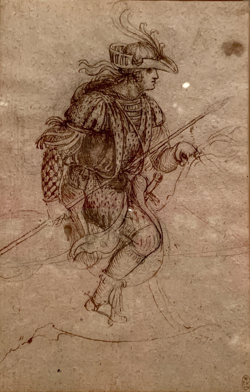 A masquerader on horseback c. 1517-18