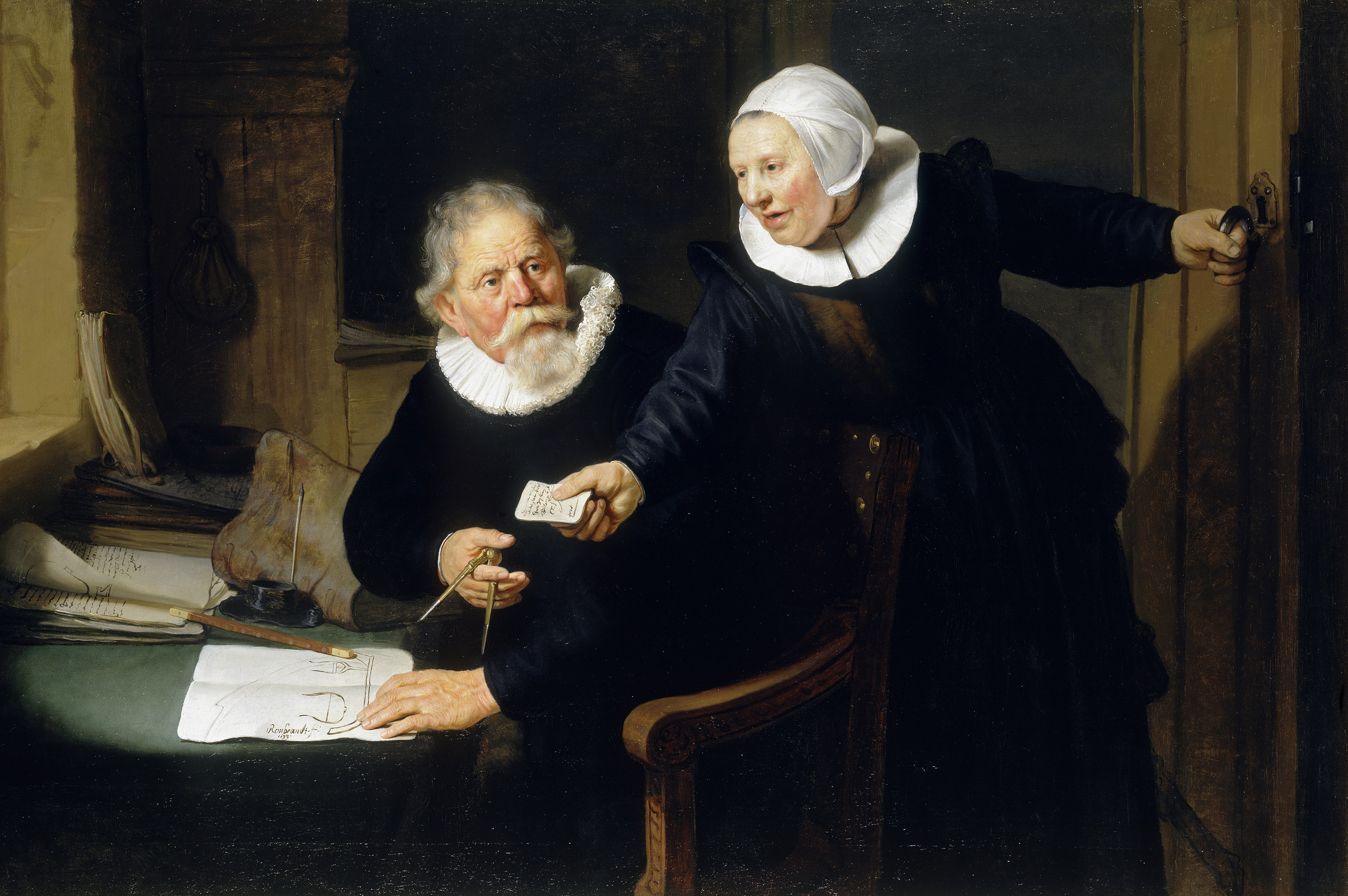 Rembrandt van Rijn, The Shipbuilder and his Wife: Jan Rijcksen and his Wife, Griet Jans, 1633