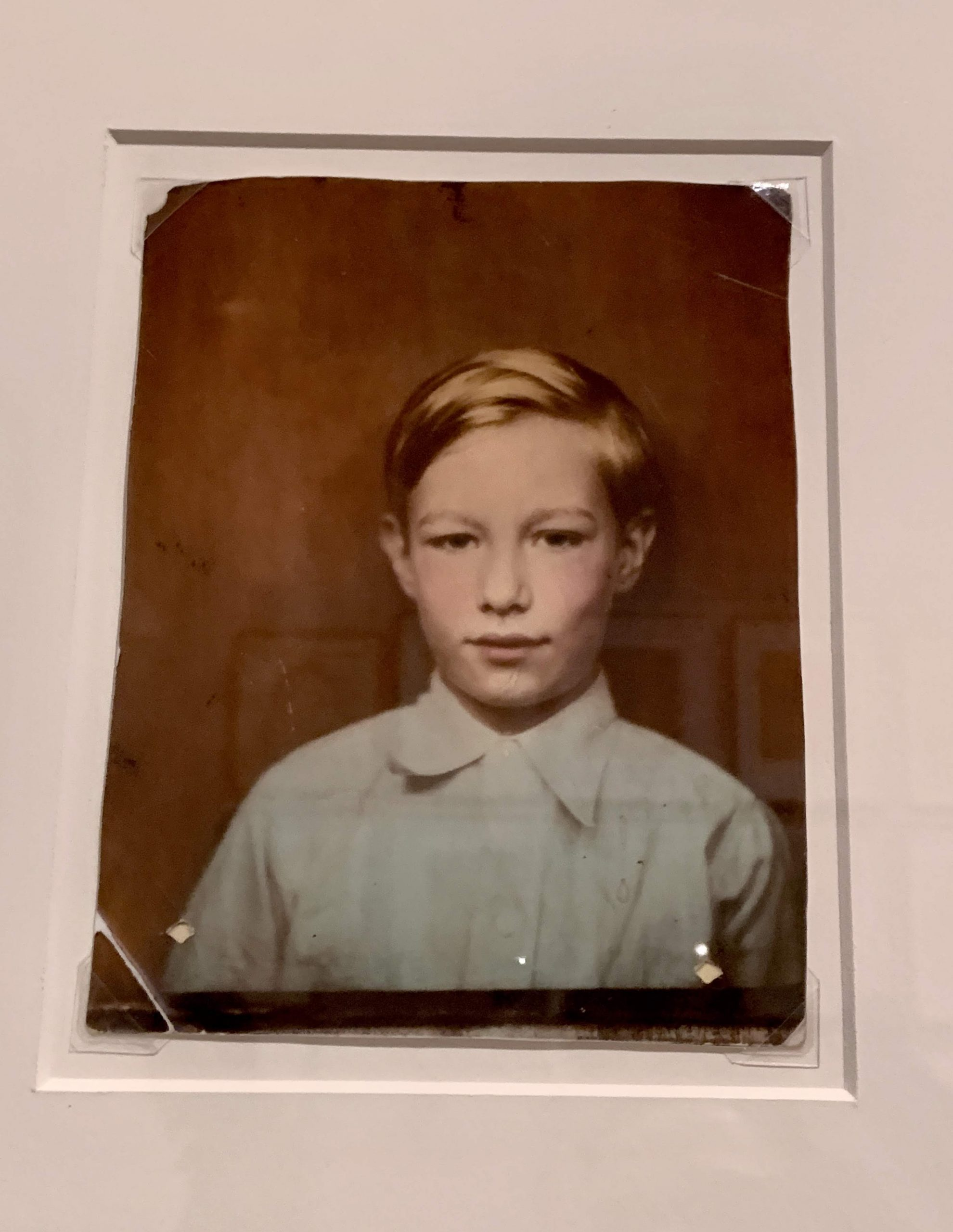 Andy Warhol as a young boy, c. 1936