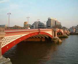 The current Blackfriars Bridge, completed 1869