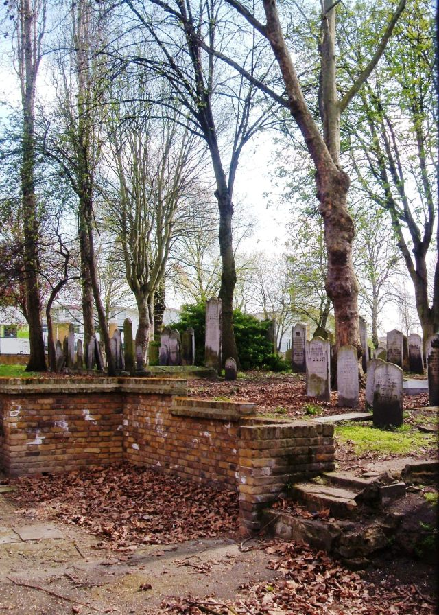 The Jewish cemetery off Brady Street