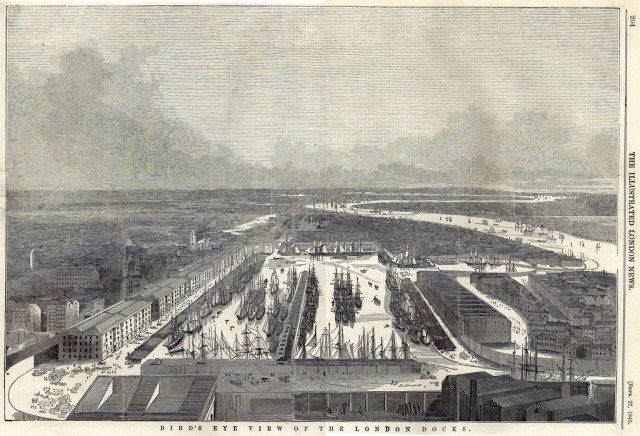 London Docks, Illustrated London News, 1845