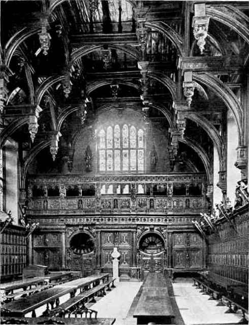 The Hall of the Middle Temple with double hammerbeam roof