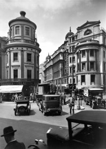 Charing Cross Hospital, c.1930, on the right of the picture