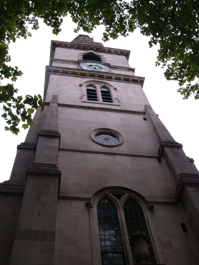 The tower of St Clement Danes