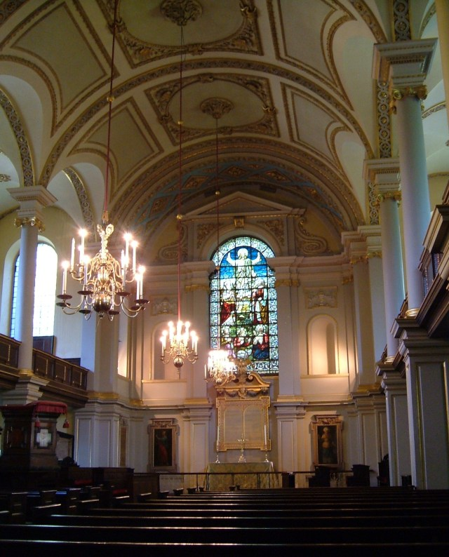 The interior, St Giles in the Fields