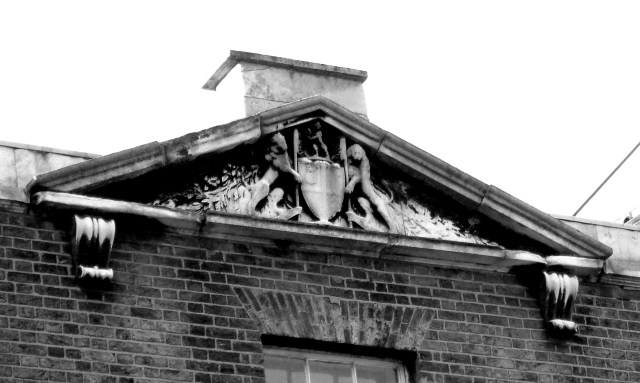 Meridian House, the arms of the East India Company
