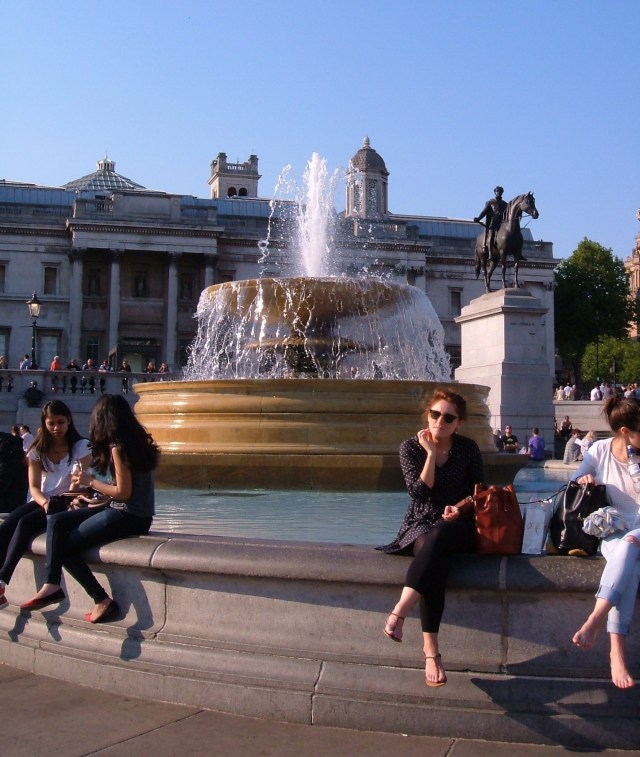 Sir Edwin Lutyens' fountains in Trafalgar Square