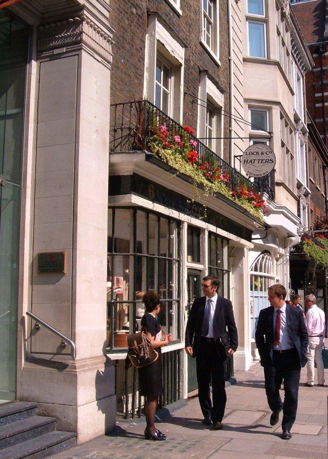 Lock's Hatters in St James's Street