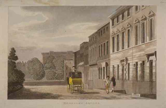 Berkeley Square, 1813, looking towards Lansdowne House along the west of the Square