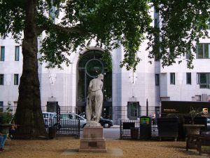 Woman of Samaria, facing the new Landsdowne House Offices
